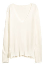 Fine-knit jumper - Natural white - Ladies | H&M 2