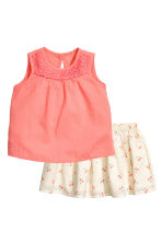 Top and skirt - Coral pink - Kids | H&M 1