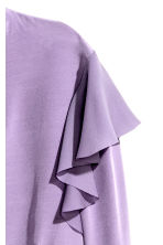 Frilled crêpe blouse - Purple - Ladies | H&M 3