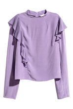 Frilled crêpe blouse - Purple - Ladies | H&M 2