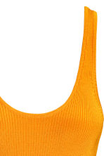 Ribbed dress - Orange - Ladies | H&M CN 3