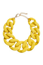 Chunky necklace - Yellow - Ladies | H&M CN 1