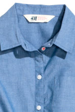 Generous fit Tie-front blouse - Blue - Kids | H&M 2