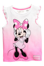 Top en jersey avec impression - Rose/Minnie - ENFANT | H&M FR 2