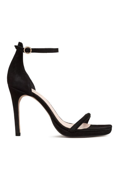 Suede sandals - Black - Ladies | H&M IE