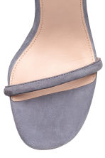 Suede sandals - Dusky purple - Ladies | H&M 3
