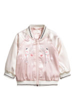 Satin bomber jacket - Light pink - Kids | H&M 1