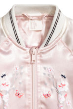 Satin bomber jacket - Light pink - Kids | H&M 2