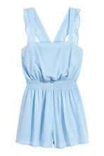 Crinkled playsuit - Light blue - Ladies | H&M 2
