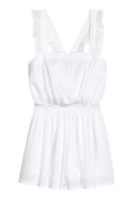 Crinkled playsuit - White - Ladies | H&M 2