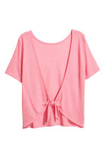 Fine-knit top - Coral pink - Ladies | H&M CN 3