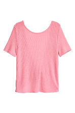 Fine-knit top - Coral pink - Ladies | H&M CN 2