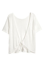 Fine-knit top - White - Ladies | H&M 3