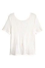Fine-knit top - White - Ladies | H&M 2