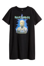 T-shirt dress with a motif - Black/Iron Maiden - Ladies | H&M CN 2