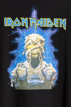 T-shirt dress with a motif - Black/Iron Maiden - Ladies | H&M CN 3