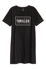 Double-layered T-shirt dress - Black - Ladies | H&M 2