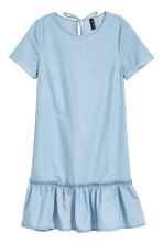 Flounced denim dress - Light denim blue - Ladies | H&M CN 2