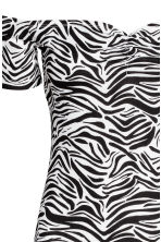 Off-the-shoulder dress - Zebra print - Ladies | H&M CN 3