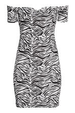 Off-the-shoulder dress - Zebra print - Ladies | H&M CN 2