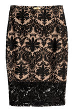 Patterned mesh skirt - Black - Ladies | H&M CN 2