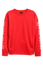 Printed sweatshirt - Red - Men | H&M 2
