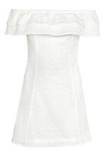 Off-the-shoulder dress - White - Ladies | H&M GB 2