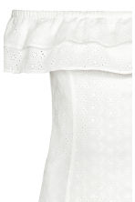 Off-the-shoulder dress - White - Ladies | H&M GB 3