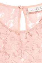 Flounce-sleeved lace blouse - Powder pink - Ladies | H&M CN 3