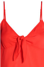 Strappy top with a knot - Red - Ladies | H&M 3