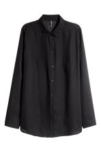 Crêpe shirt - Black - Ladies | H&M 2