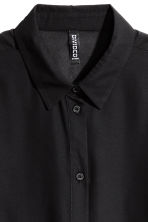 Crêpe shirt - Black - Ladies | H&M 3