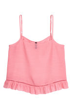 Wide strappy top - Coral pink - Ladies | H&M 2