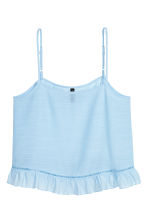 Wide strappy top - Light blue - Ladies | H&M CN 2