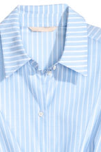 Cotton wrapover shirt - Light blue/Striped - Ladies | H&M 4