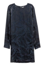 Jacquard-weave dress - Dark blue/Patterned -  | H&M 2