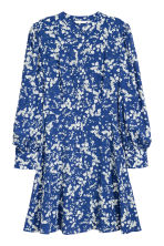 Printed dress - Dark blue/Floral - Ladies | H&M CN 2