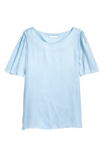 Woven top - Light blue - Ladies | H&M CN 2
