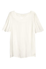 Woven top - Natural white - Ladies | H&M CN 2