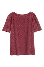 Woven top - Burgundy/Patterned - Ladies | H&M 2