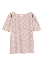 Woven top - Powder pink/Pattern -  | H&M CN 2