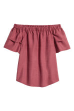 Camicetta in misto lyocell - Bordeaux - DONNA | H&M IT 2