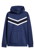 Hooded top in scuba fabric - Navy blue - Men | H&M 2