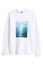 Waffled top - White/Photo - Men | H&M 2