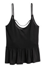 Strappy top with a flounce - Black - Ladies | H&M 2