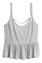 Strappy top with a flounce - Grey marl - Ladies | H&M CA 2