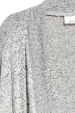 Fine-knit cardigan - Grey marl - Ladies | H&M 3