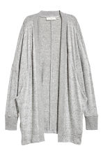 Fine-knit cardigan - Grey marl - Ladies | H&M GB 2