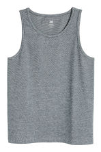 Cotton jersey vest top - Dark blue/Narrow striped - Men | H&M 2