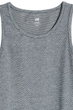 Cotton jersey vest top - Dark blue/Narrow striped - Men | H&M 3